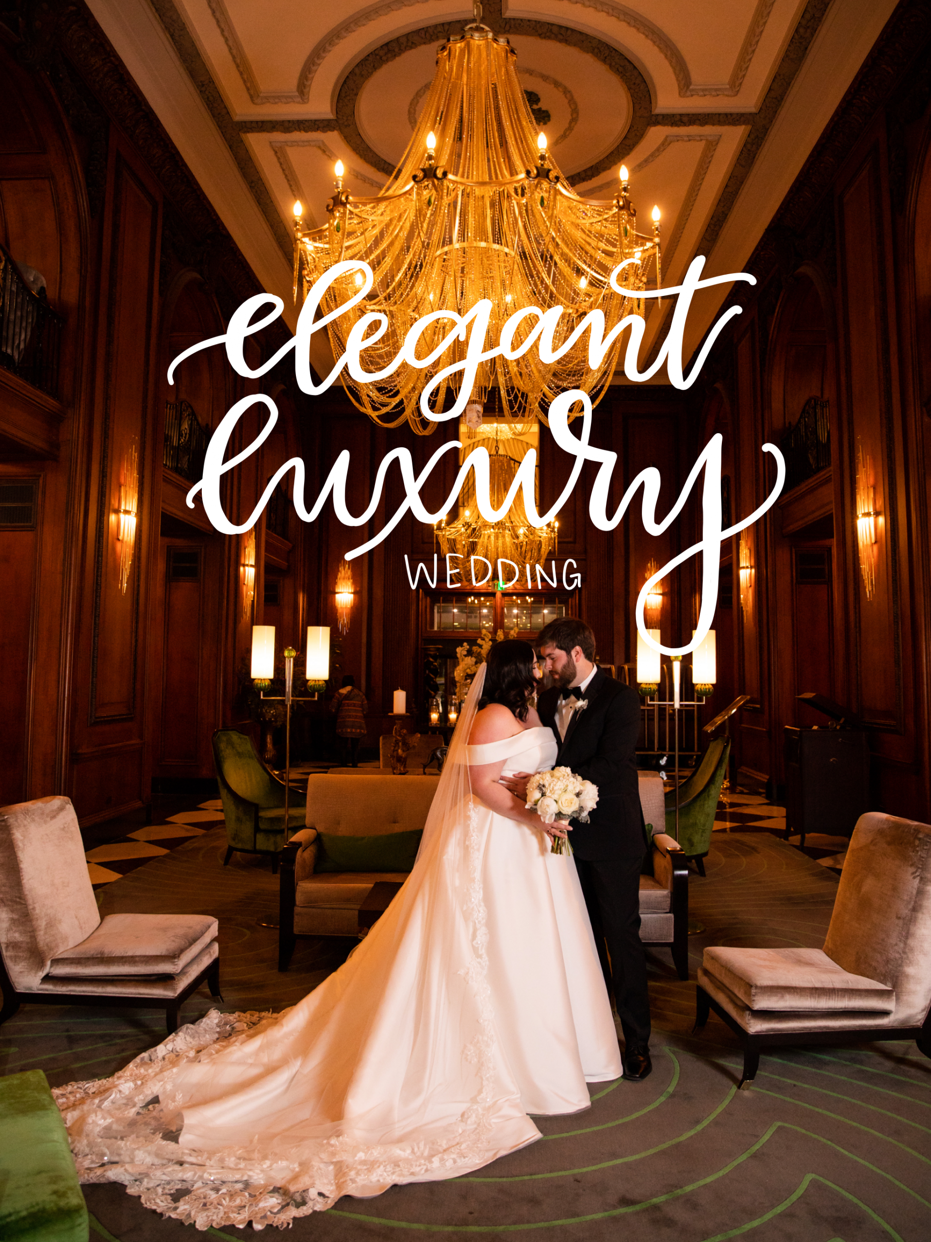 Bride and Groom in luxury wedding venue